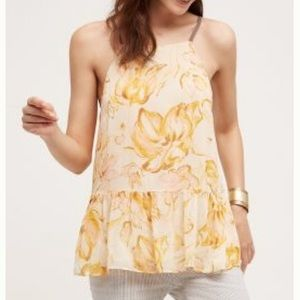 Anthropologie Floral Skirted Cami Small